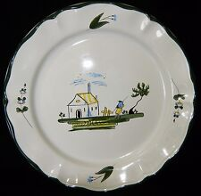 """Minty VARAGES 1 Tree CABANON 11"""" Chop Lg Dinner Plate French Cottage France"""