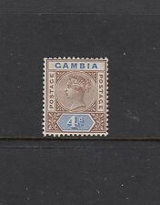 GAMBIA: 1898-1902 QV Tablet definitives 4d Brown & Blue SG 42 £20, MLH.