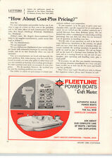 1968 PAPER AD Craft Master Fleetline Toy Play Power Boats Johnson Outboard Motor