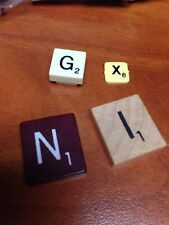 scrabble tiles Wood Plastic Or Rubber