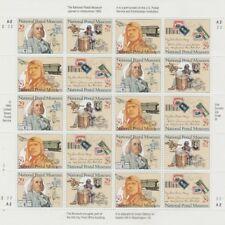 1993 Sheet #2779-82 National Postal Museum, 20 of $0.29, mNH Very Fine