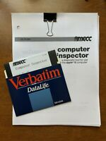 "Mecc apple ii  Computer inspector A240 with manual 5.25"" 5.25 Disk Utility"