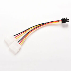 Athena Power  Dual IDE Molex to 6Pin PCI Express PCI-E Power Cable