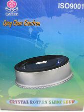 """3D Crystal GlassTrophy Laser 15 LED Rotating Electric Light Base Display 6'5"""""""
