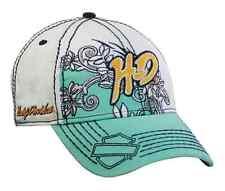 Harley-Davidson Women's 100% Cotton Hibiscus Flowers Design Baseball Cap hat