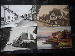 FOUR POSTCARDS OF HEMINGFORD GREY,HUNTINGDON,CAMBRIDGE SHIRE