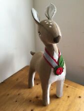 Pottery Barn Standing Felt Reindeer Decoration