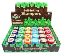 TINYMILLS 24 Pcs Pixel Miner Stampers for Kids