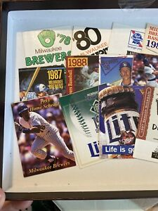 milwaukee brewers pocket schedules  1978 - 2013    28 SCHEDS