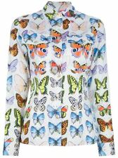 Versace Jeans Signature Ittierre Vintage Butterfly Print Long Sleeve Shirt Small