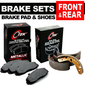 [FRONT & REAR] Brake Pads + Shoes Fits Ford Bronco, E-150 Econoline, Club Wagon
