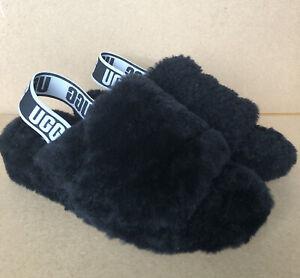 UGG Fluff Yeah Sliders - Black - UK Size 4