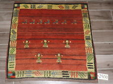 Handmade Square Persian Gabbeh Wool Rug