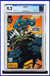 Lobo #1 CGC Graded 9.2 DC December 1993 Embossed Foil Cover Comic Book