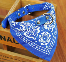 Blue Pet Dog Bow Tie Collars Dog/Cat Necklace Scarf Cute Printing Collar 2.5cm