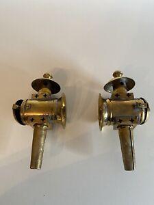 2  Messing Lampen  Antik Deko Länge 25cm Kutschenlampen