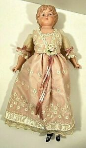Antique Doll Porcelain Head and Limbs Cloth Body by D. Haskett #520