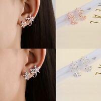d'os des bijoux dame l'étalon. boucles d'oreilles en fleurs pierre crystal