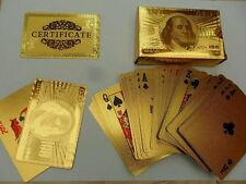 £50 Pound Gold Playing Cards 24k Carat Gold Plated Game Poker