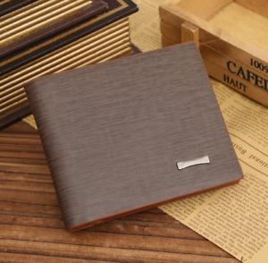 Men's Leather Bifold ID Card Holder Pocket Purse Coin Wallet Clutch Billfold