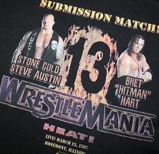"WWE Wrestlemania 13 T-Shirt Stone Cold Steve Austin VS Brett ""Hitman"" Hart"