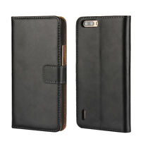 Luxury Genuine Leather Flip Stand Case Wallet Cover For Huawei Honor 6 Plus