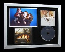 THE AMAZONS+SIGNED+FRAMED+JUNK FOOD+BLACK MAGIC=100% AUTHENTIC+FAST GLOBAL SHIP