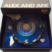 Alex and Ani Aurora Bangle Bracelet Metallic Blue NWTBC
