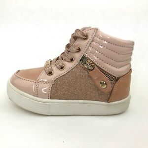 Girls MICHAEL KORS Casual Beige Ankle Zip Trainers Shoes Size UK 6.5 Infant