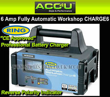 Ring RCB306 12v 6 Amp 70Ah Automatic Workshop Car Lead Acid Gel Battery Charger