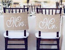 """""""Mr & Mrs"""" Vintage Stuhl Wimpel - Hochzeitsdekoration"""