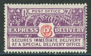 New Zealand 1937 6d Violet & Carmine Special Delivery Sc# E1 NH