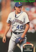 313  MIKE SCHOOLER  SEATTLE MARINERS TOPPS BASEBALL CARD STADIUM CLUB 1992