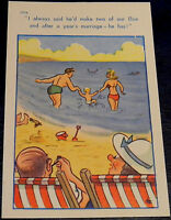 VINTAGE SAUCY POSTCARD BROOK PUBLISHING COMIC SERIES No.12114 UNPOSTED