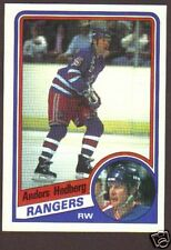 1984-85 Topps Hockey Anders Hedberg #107 Rangers NM/MT