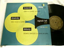 REGINALD KELL Hindemith Stravinsky Debussy Decca mono dg LP Joel Rosen
