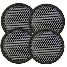 "Speaker Grill 4 pcs 6-3/8"" diameter Round-shape, round hole rubber surround"