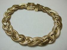 BEST Givenchy Necklace Braided Flex Herringbone Wide Runway Choker