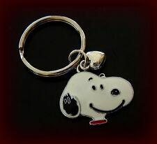 Peanut's SNOOPY + Heart Jewelry Keychain - PEANUTS Charlie Brown's Beagle Dog