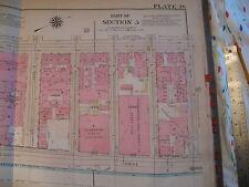 Original 1930 New York City Nyc Atlas Linen Map 67 - 76 East Side East River