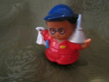 Fisher Price Little People Garage mechanic tow truck driver oil can AA man boy 1