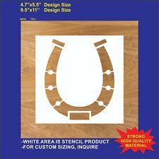 Horseshoe - Reusable, Flexible  Stencil