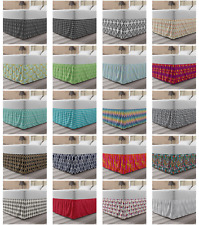 Ambesonne Abstract Form Bedskirt Elastic Wrap Around Skirt Gathered Design