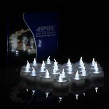 AGPTEK 24pcs Cool White Flickering Flameless LED Tealight Candles with Timer...