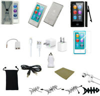 13 ITEM ACCESSORY BUNDLE FOR APPLE IPOD NANO 7TH or 8TH GEN EARPHONES 3 CASES