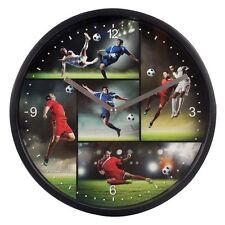 Horloge murale Let's `s COUP PIED chambre d'enfants Montre de jeunes football -