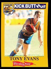 1996 West Coast Eagles Kick Butt Quit Tony Evans Card No. 3 Healthway