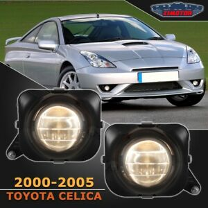 Fit Toyota Celica 00-05 Clear Lens Pair Bumper Fog Light Lamp Projector Bulb