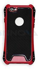 NUEVO carcasa antichoques PC Funda Funda para Apple iPhone 6 6s Rosa Rojo