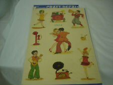 Vintage Decals Meyercord Roaring 20's Dancing Charleston Crafts Decal Stickers